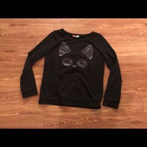 ModCloth Fervour cat sweatshirt top size medium